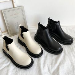 Bolitin - Faux Leather Platform Ankle Chelsea Boots