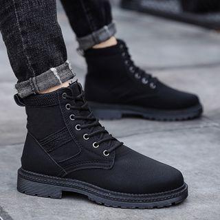 HANO(ハノ) - Lace-Up Short Boots