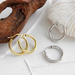 Phoenoa(フェノア) - 925 Sterling Silver Hoop Earring