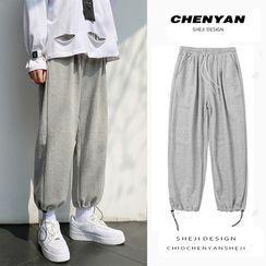 ChouxChic - Drawstring-Cuff Straight-Cut Pants