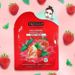 Freeman Beauty - Pore Cleansing Strawberry + Mint Sheet Mask