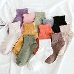 Mimiyu - 五對套裝: 純色襪子