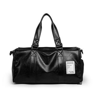 TESU - Faux Leather Label Accent Carryall Bag