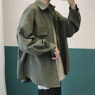 YERGO - Plain Shirt Jacket