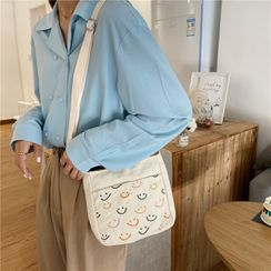 Milha - Mini Embroidered Canvas Crossbody Bag
