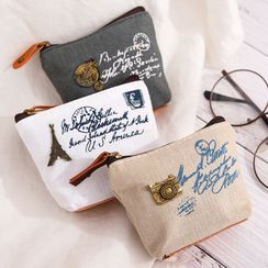 Eranso - Lettering Canvas Coin Purse