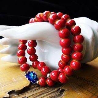 Townlet - 陶瓷飾珠合金花朵手鏈