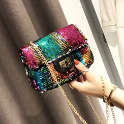 Koniga - Sequin Flap Crossbody Bag