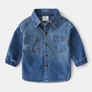 貝殼童裝 - 小童牛仔襯衫