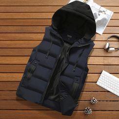 Carser - 连帽夹棉马甲