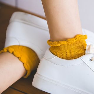 Mimiyu - Set of 4: Scalloped Ankle Socks