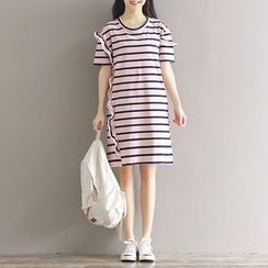 Ashlee - Stripe Short-Sleeve Dress