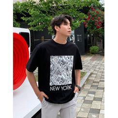 GERIO - 'NEW YORK' Graphic T-Shirt