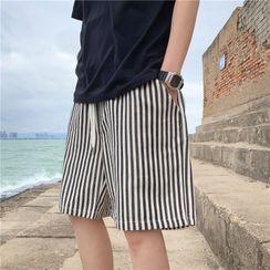Antaeus - Striped Wide-Leg Shorts