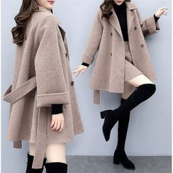 Sienne - Set: Double Breasted Coat + A-Line Skirt