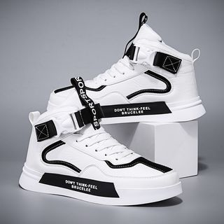 HANO - Buckled High-Top Sneakers