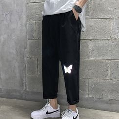 Wescosso - Reflective Cropped Pants