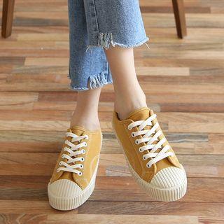 MERONGSHOP - Platform Toe-Cap Stitched Sneakers