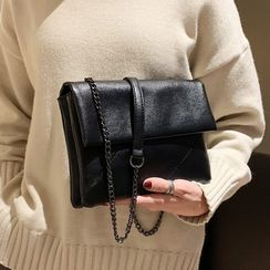 Miloes - Faux Leather Flap Crossbody Bag
