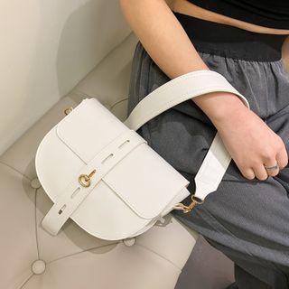 mizandrus - Plain Saddle Crossbody Bag