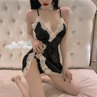 Pearldrop - Lace Trim Nightdress
