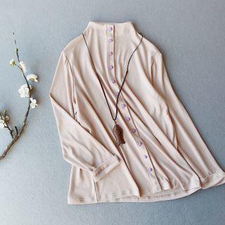 Vateddy - Long-Sleeve Plain Shirt