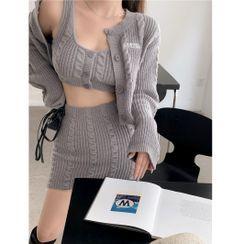 Alfie - 短款开衫 / 针织背心上衣 / 麻花针织半身裙(多款设计)