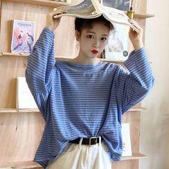 Chogen - Long-Sleeve Striped T-Shirt