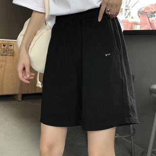 Edise - 及膝字母短褲