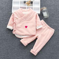 MOM Kiss - 婴儿家居服套装: 长袖上衣 + 裤子