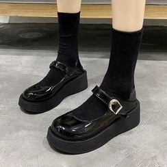 Bolitin - 純色厚底瑪莉珍鞋