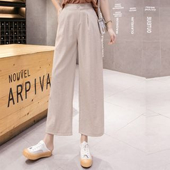 Sibpal - High-Waist Wide-Leg Pants