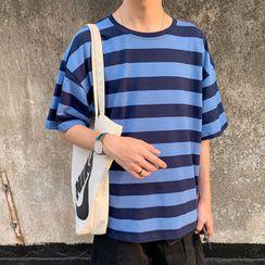 Wescosso - 条纹短袖T恤