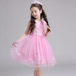 Doveark - Kids A-line Party Dress