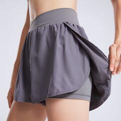 Santure - Mock Two-Piece Sports Shorts