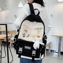 Anna Momo - Color Panel Canvas Backpack