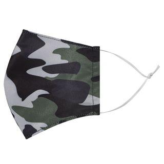 Miumi - Protection masque hydrofuge faite à la main – motif camouflage (adulte)