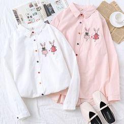 Suzette - 小兔刺绣衬衫