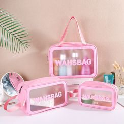 ilbu(イルブ) - Lettering Transparent Toiletry Bag