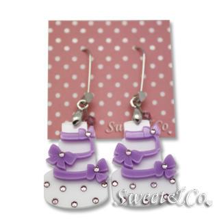 Sweet & Co. - Sweet Purple dolly cake swarovski dangle earrings