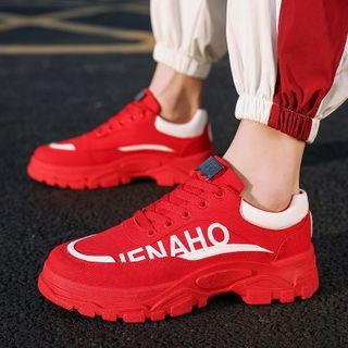 Signore - Platform Lettering Sneakers