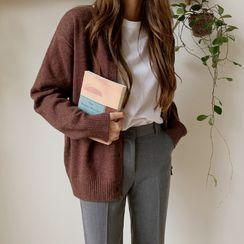 Envy Look - Round-Neck Plain Cardigan