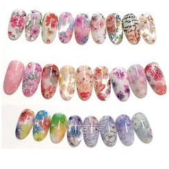 Monoe - Floral Print Transfer Nail Art Stickers
