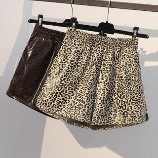 Champi - Leopard-Print Wide-Leg Shorts