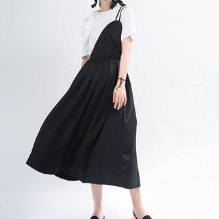 Ultra Modern - Asymmetrical Short-Sleeve Midi A-Line Dress