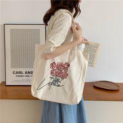 Milha - Flower Canvas Shopper Bag