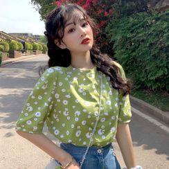 Sisyphi - Short-Sleeve Floral T-Shirt