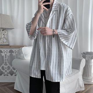 POSI - 中袖条纹衬衫