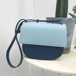 Barba - Faux Leather Flap Crossbody  Bag