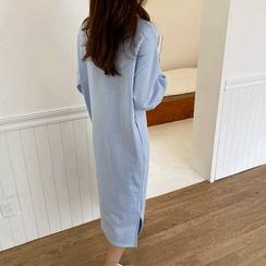 NIPONJJUYA - Slit-Hem Pullover Dress